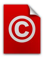 Copyright Symbol Auf Einem Dokument